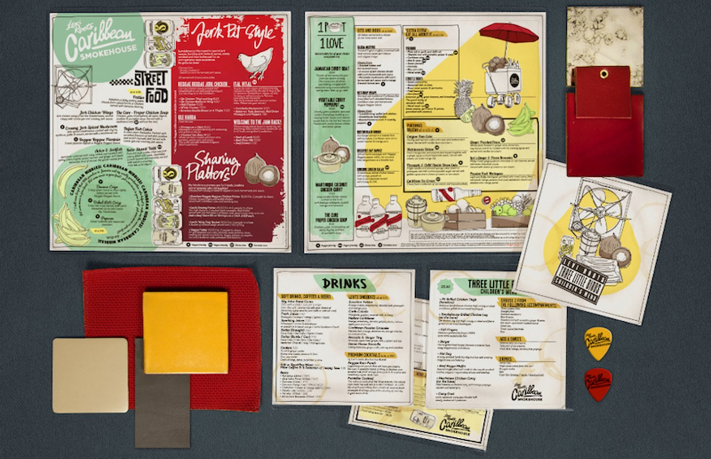 Levi Roots Caribbean Smokehouse menu design - B3 Designers